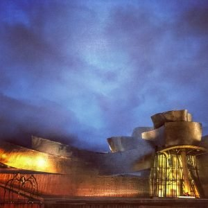 Guggenheim museum in Bilbao, Basque country, Spain.