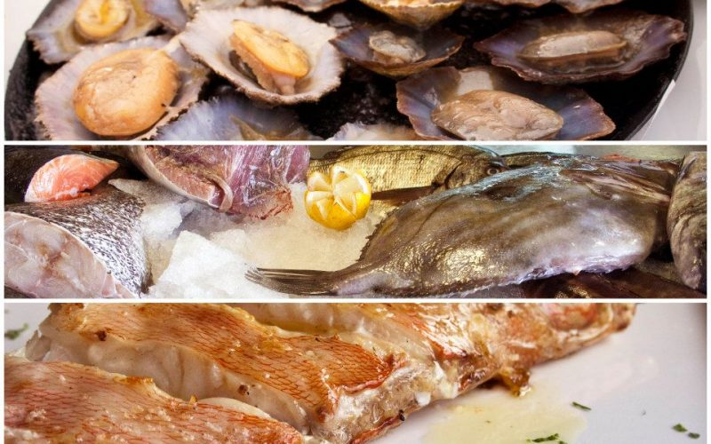 """Our food in Madeira. The first ones are limpets or """"lapas"""" in Portuguese."""