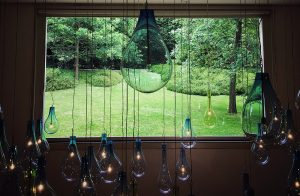 A view through a window in Serralves Museum.