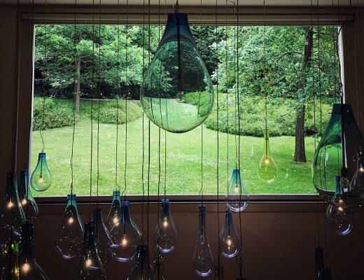 A view through a window in Serralves Museum.