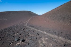 Capelinhos - a volcanic cone in Faial island. A volcanic eruption lasted for 13 months in 1957-1958.