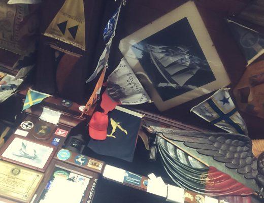 """Inside """"Peter's Cafe""""."""