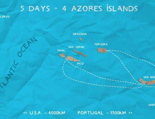 5 days - 4 Azores islands.