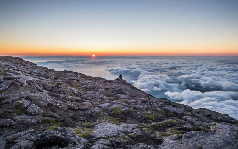 The sunrise at Mount Pico.