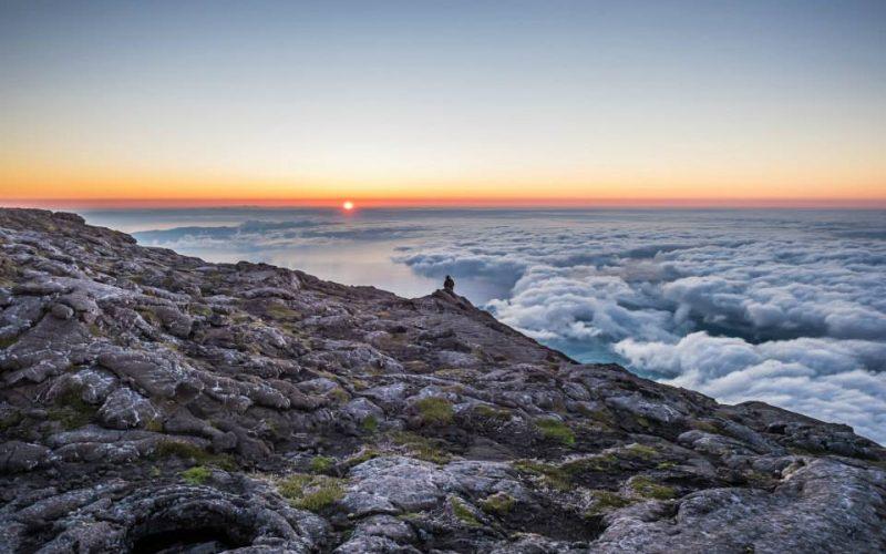 The sunrise at Mount Pico.