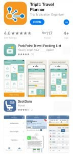 Apps that help to plan your trip.