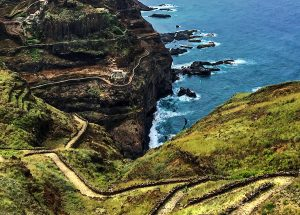 While trekking from Ponta do Sol to Cruzinha in the island of Santo Antão.