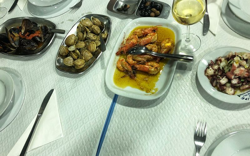 """Different seafood """"petiscos"""""""